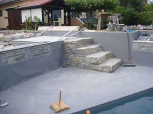 Schwimmteich, Trittstufen, Wachuer Marmor, Stufen, Treppen