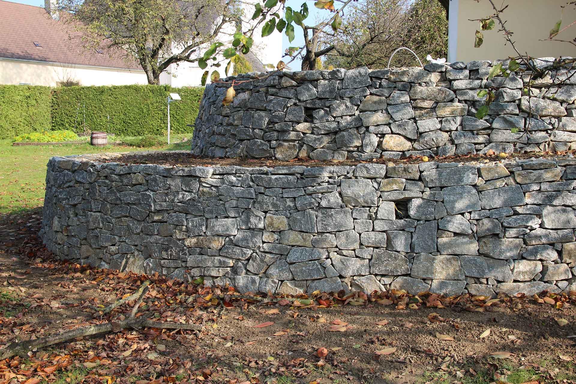 Trockenmauer, Gartenmauer,