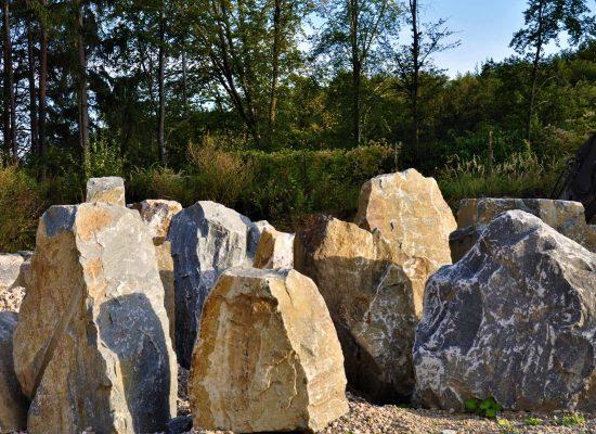 Objektsteine in verschiedenen Größen