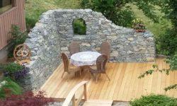 Trockensteinmauer, Gestaltungselement, Sitzecke, Wachauer Marmor, Rundbogen Mauern